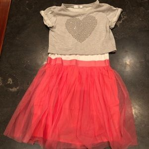Nearly new pink Gap dress w/ tulle skirt - size 12